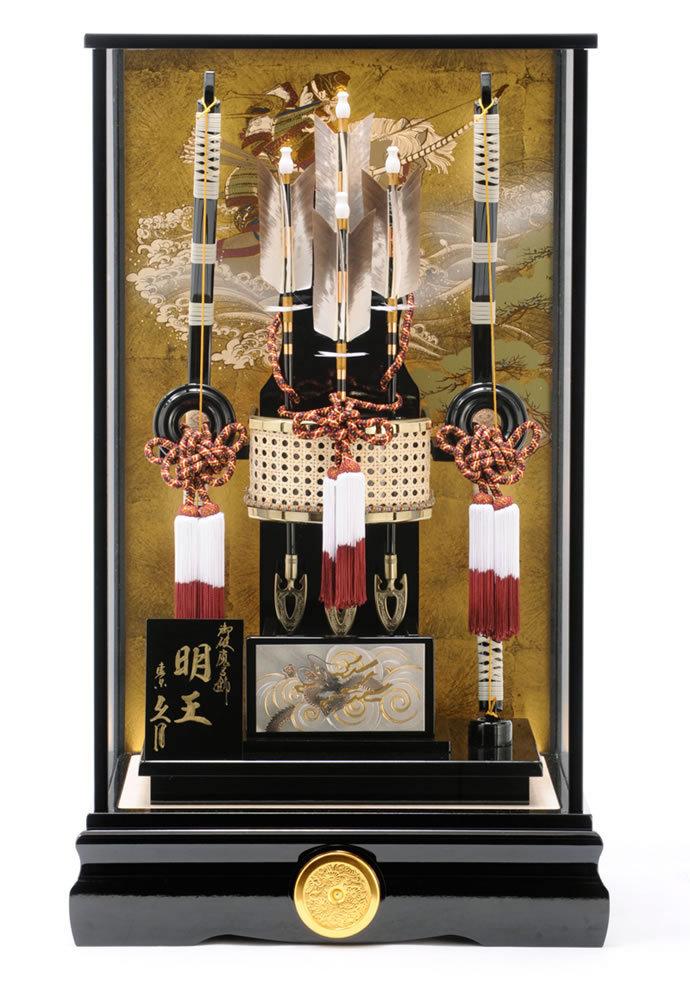 明王 彫金 18号 黒塗ケース カブセケース オルゴール付