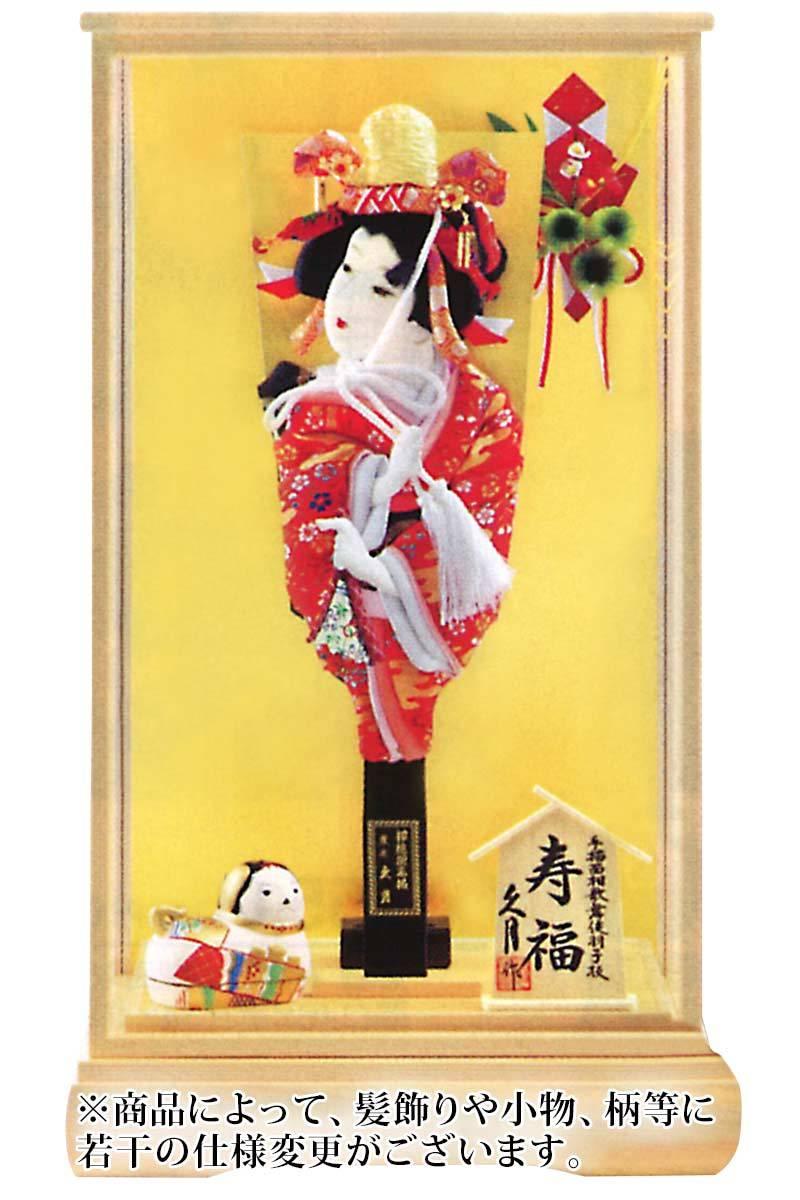 寿福 道成寺 15号 手描面相歌舞伎羽子板 総檜面取