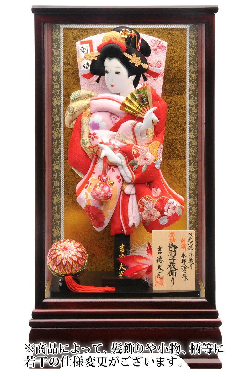 刺繍入り 伝統工芸 手造り 本押絵仕様 13号 マホガニ塗