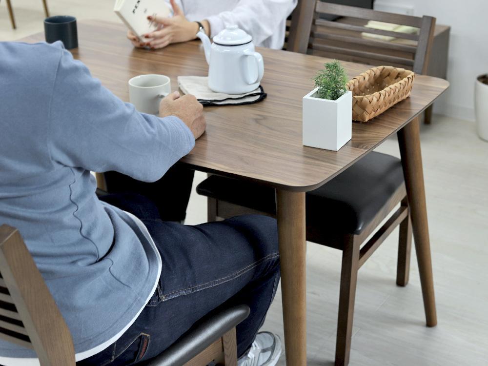 東谷 トムテ ダイニングテーブル W750×D750×H700mm TAC-241WALの商品画像|3