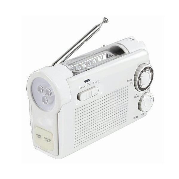 手回し充電ラジオライト KDR-10-W ホワイト
