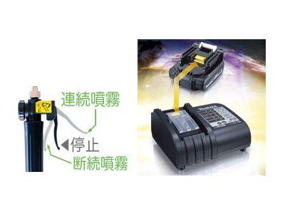マキタ 14.4V 充電式噴霧器 MUS153DSH(バッテリー・充電器付)(噴霧機・動噴)                                                                                                                             Li-ionバッテリ&大容量タンクで幅広く使える。 動噴):mkt-mus153dshなら 充電器付)(噴霧機