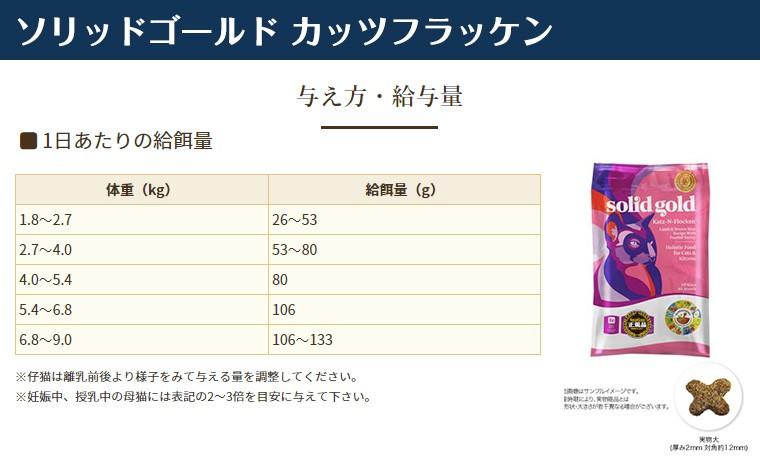 ソリッドゴールド カッツ フラッケン(猫用) 1kg×2個の商品画像|ナビ