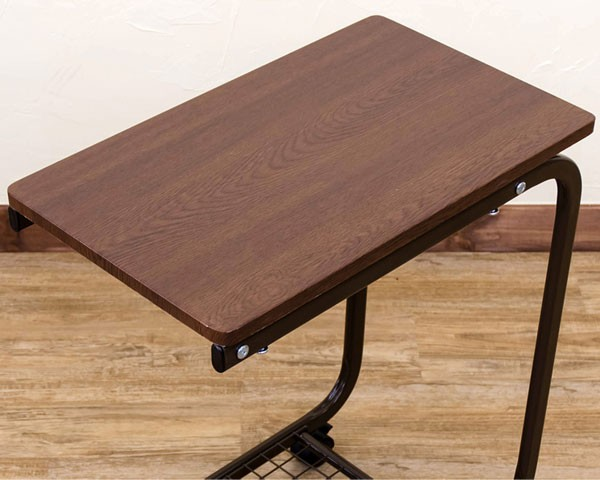 コの字型 サイドテーブル 網棚付き ベッドテーブル 介護 コの字テーブル ソファ