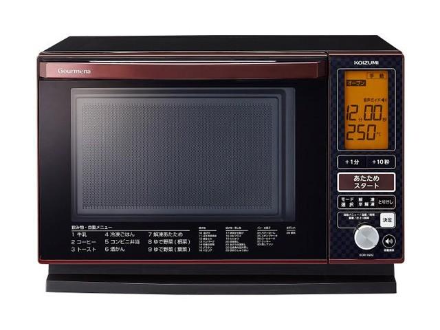 小泉成器 KOR1602R オーブンレンジ コイズミ レッドの商品画像 3