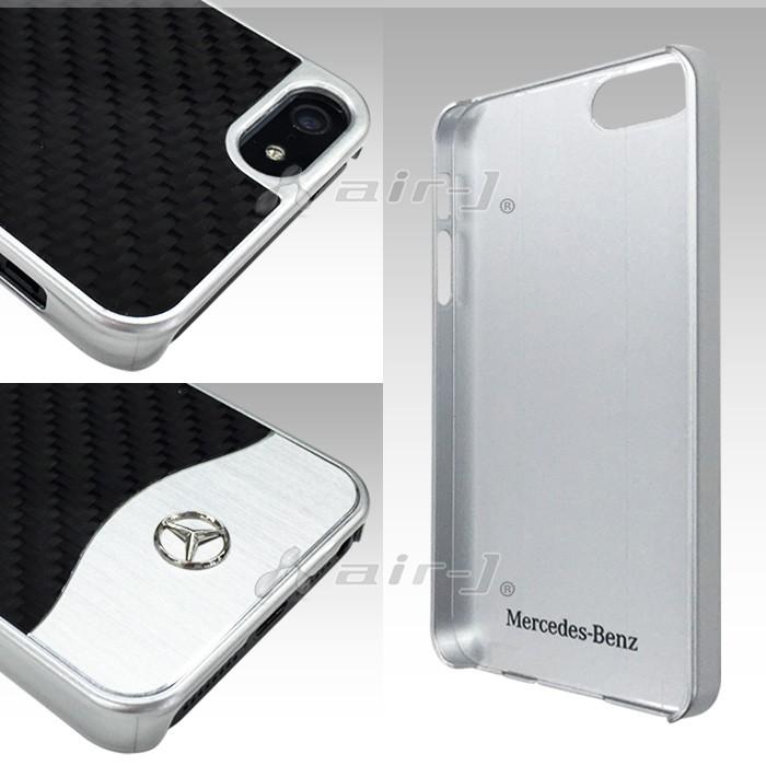 iPhone SE/5s/5用 メルセデス・ベンツ リアルカーボンハードケース MEHCPSECACBKの商品画像|2
