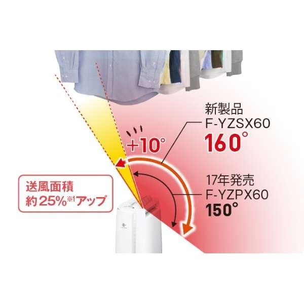 デシカント方式 衣類乾燥除湿機 F-YZSX60-S (シルバー)の商品画像 4