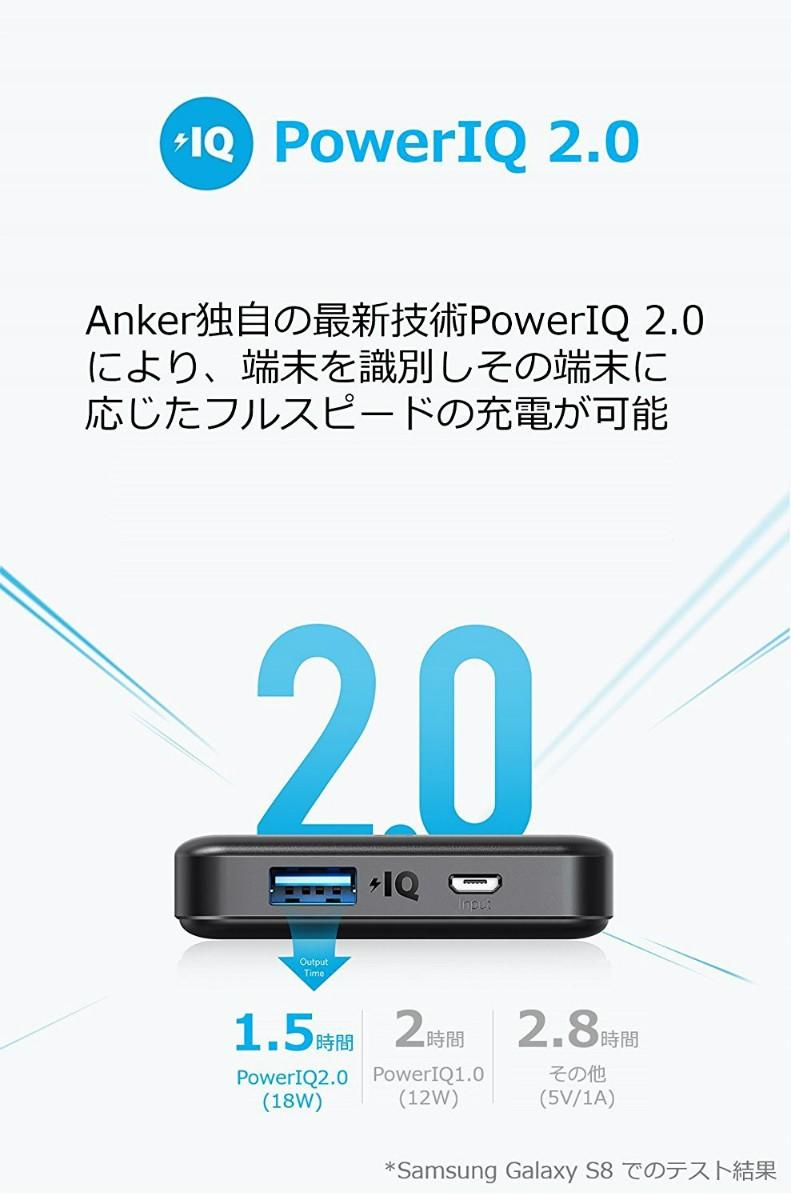 アンカー A1261011(PowerCore II Slim 10000 ブラック 10000mAh)の商品画像|3