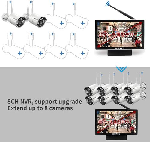 DXアンテナ ワイヤレス フルHD カメラ&モニターセット WSC610Sの商品画像 2