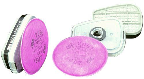 【3M/スリーエム】 有機ガス用吸収缶 6001/2091-L3(6000用) (2個/1組) 【ガスマスク・作業用】