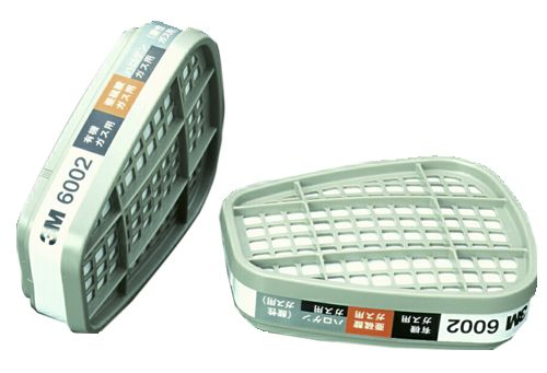 【3M/スリーエム】 コンビネーション用吸収缶(有機・ハロゲン・亜硫酸・酸性) 6002 (6000用) (2個/1組) 【ガスマスク】