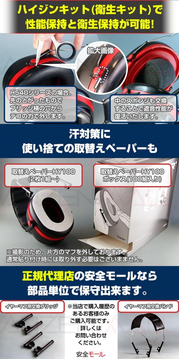 2商品画像ハイジンキットと汗取りペーパーで性能と衛生維持が可能。パーツの取り扱いもあります。