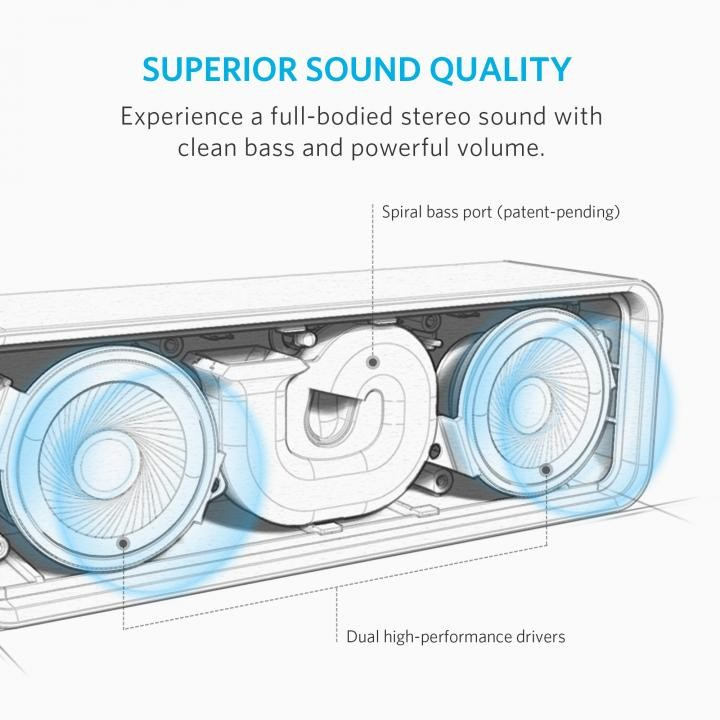 Bluetoothスピーカー SoundCore A3102091 (レッド)の商品画像|2