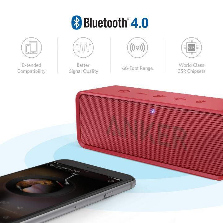 Bluetoothスピーカー SoundCore A3102091 (レッド)の商品画像|4