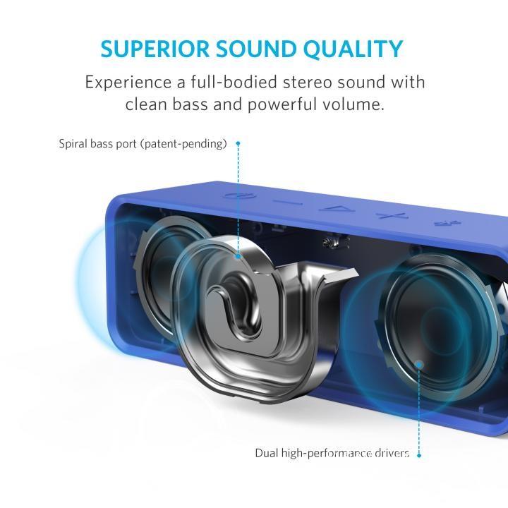 Bluetoothスピーカー SoundCore A3102031 (ブルー)の商品画像 ナビ