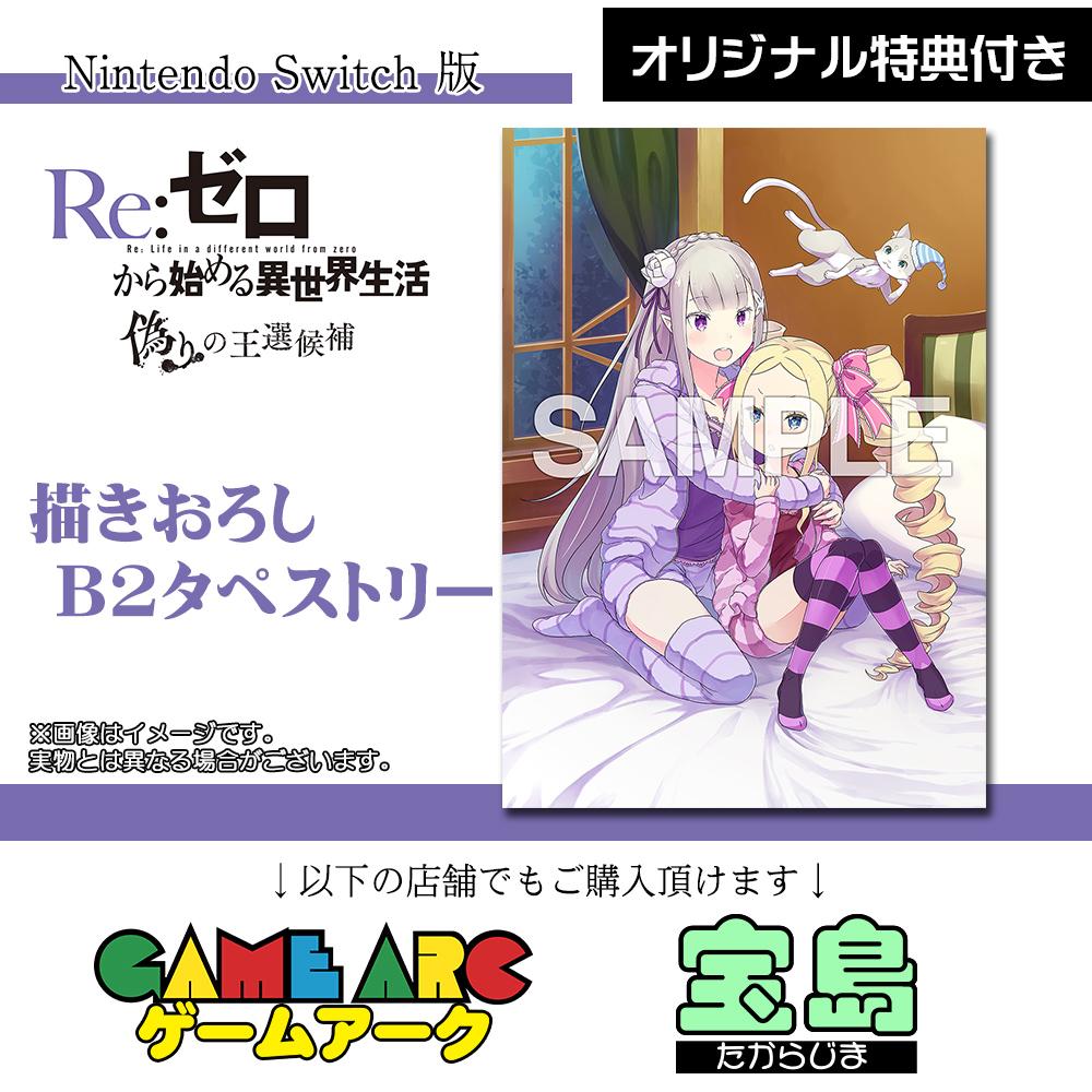 【Switch】 Re:ゼロから始める異世界生活 偽りの王選候補の商品画像|ナビ