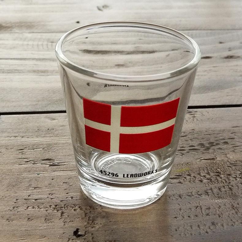 ショットグラスデンマーク国旗