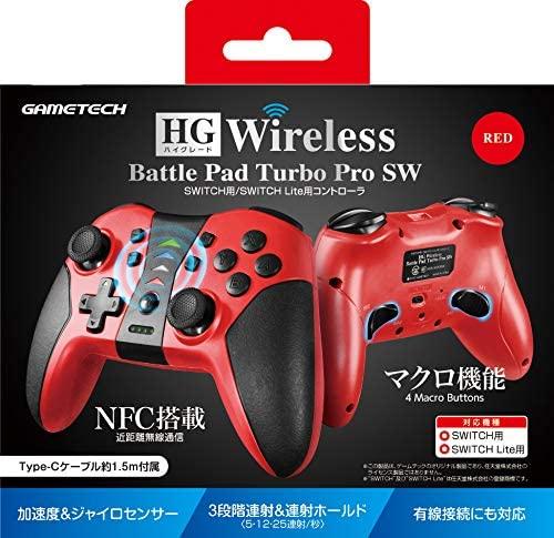 HGワイヤレスバトルパッドターボProSW レッド SWF2285の商品画像 ナビ