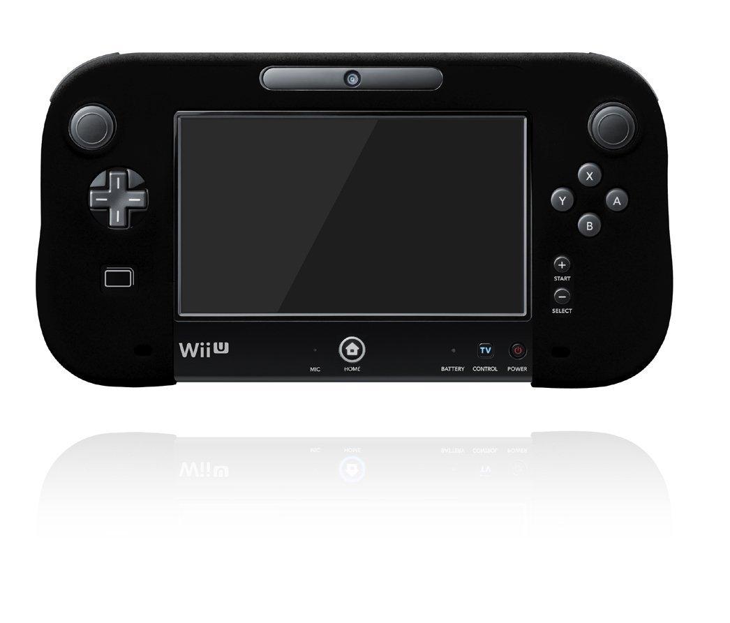 キーズファクトリー シリコンカバー for Wii U GamePad ブラックの商品画像 ナビ