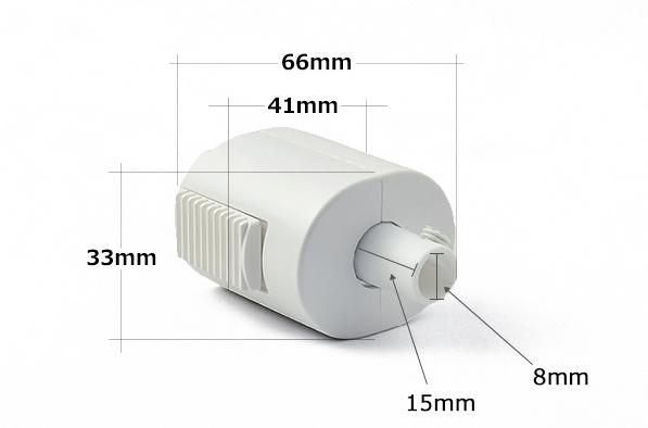 ライティングレール用プラグ DR4032K (黒)の商品画像|3