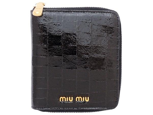 buy online 40132 3b8e7 miu miu財布ミュウミュウラウンドファスナー財布ST.COCCO LUX ...