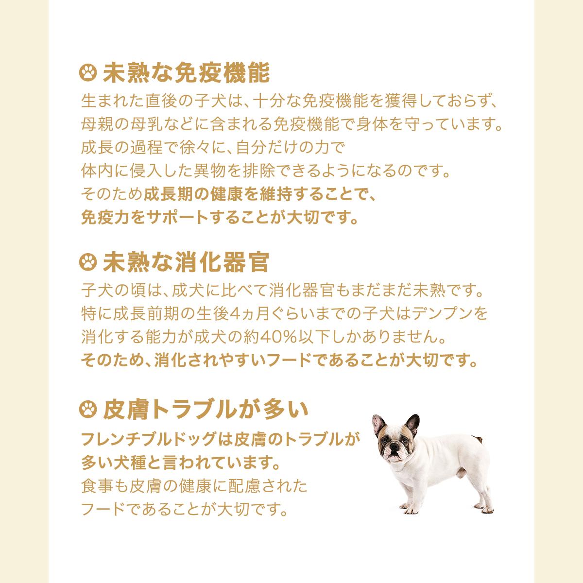 ブリード ヘルスニュートリション フレンチブルドッグ 子犬用 3kg×4個の商品画像|3