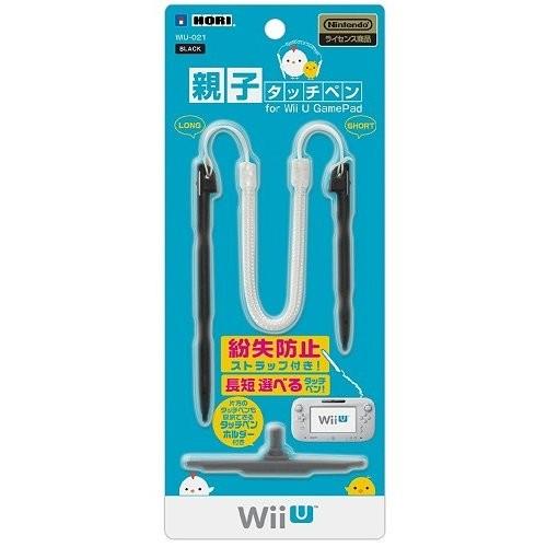 ホリ 親子タッチペン for Wii U GamePad ブラックの商品画像 ナビ