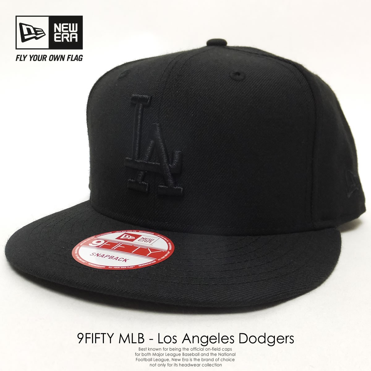 483fcf2653e01d New Era 950 Los Angeles Dodgers Basic Snapback Hat Mens Cap Black/White