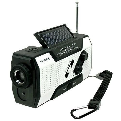 WINTECH 防災用 防滴 手回し充電 ラジオライト KDR-201WP ウィンテック