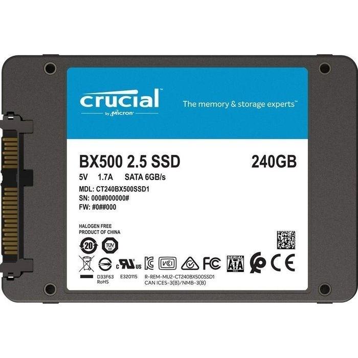 CT240BX500SSD1 [Crucial BX500 2.5インチ 7mm SATA 240GB]の商品画像|ナビ