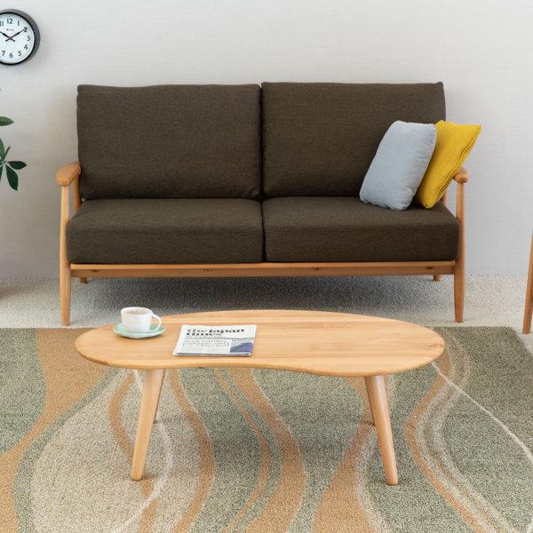 モフィ リビングテーブル W1000×D610×H330mm 1000-141010091 ナチュラル色の商品画像|ナビ