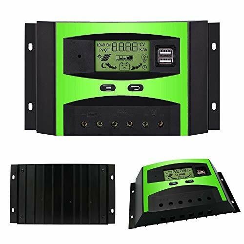 ソーラーチャージャーコントローラー GIARIDE 30A 12V/24V 充電チャージコントローラー LCD液晶ディスプレイ 電圧