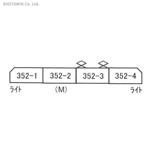 マイクロエース MICROACE 東武350型(352F)特急きりふり 4両セット A2098の商品画像|ナビ