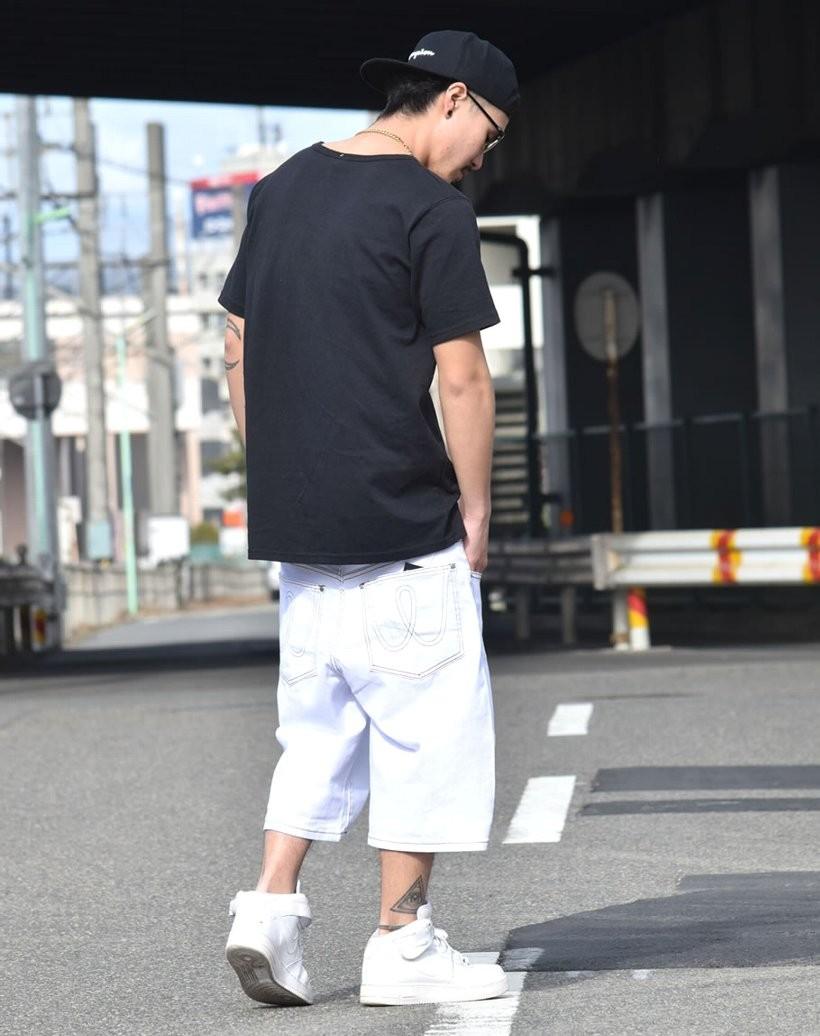 ハーフパンツ メンズ 夏 ブランド ショートパンツ 太め ゆったり 大きいサイズ バギーパンツ 無地 DOP 父の日