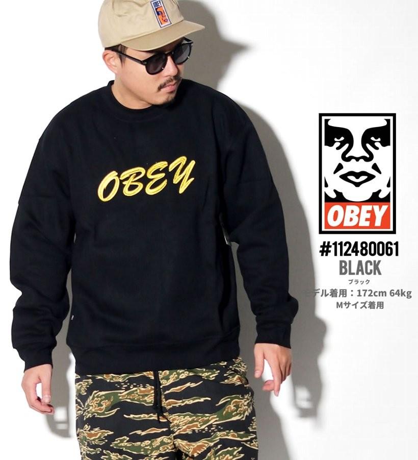 オベイ OBEY トレーナー メンズ スウェット ブランド おしゃれ コーデ 厚手 裏起毛 112480061 大きいサイズ
