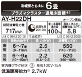 AY-H22DH (ホワイト系)の商品画像|4