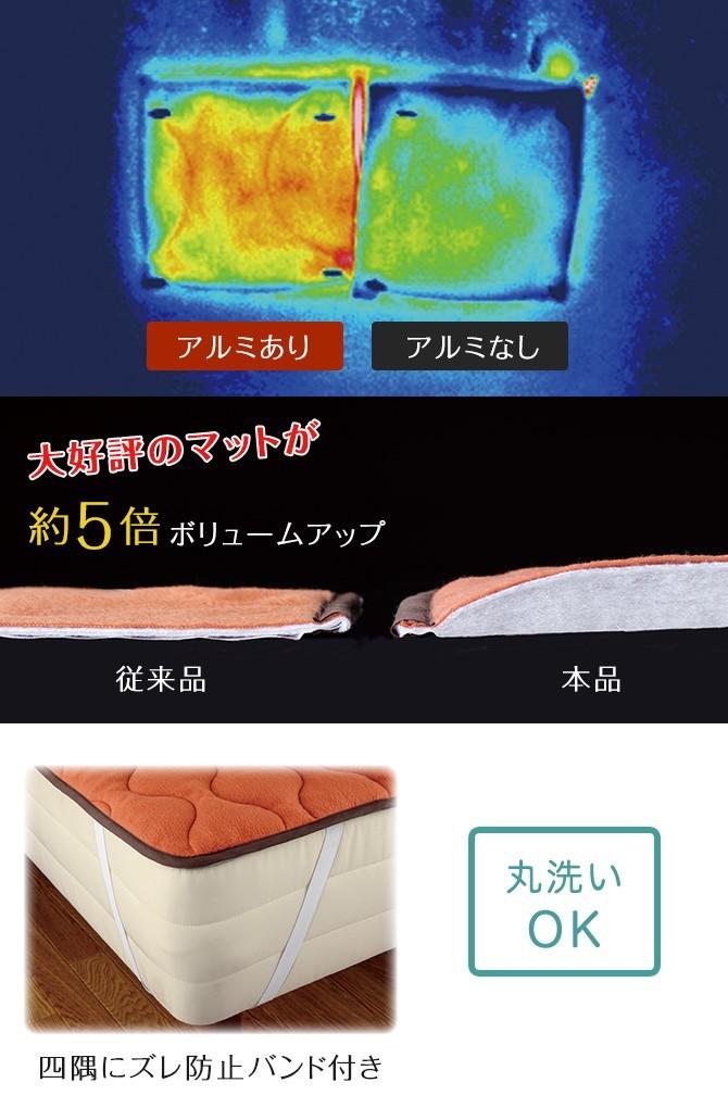 敷きパッド マット あったかグッズ 冷え対策 NEW暖暖あったか節電マット