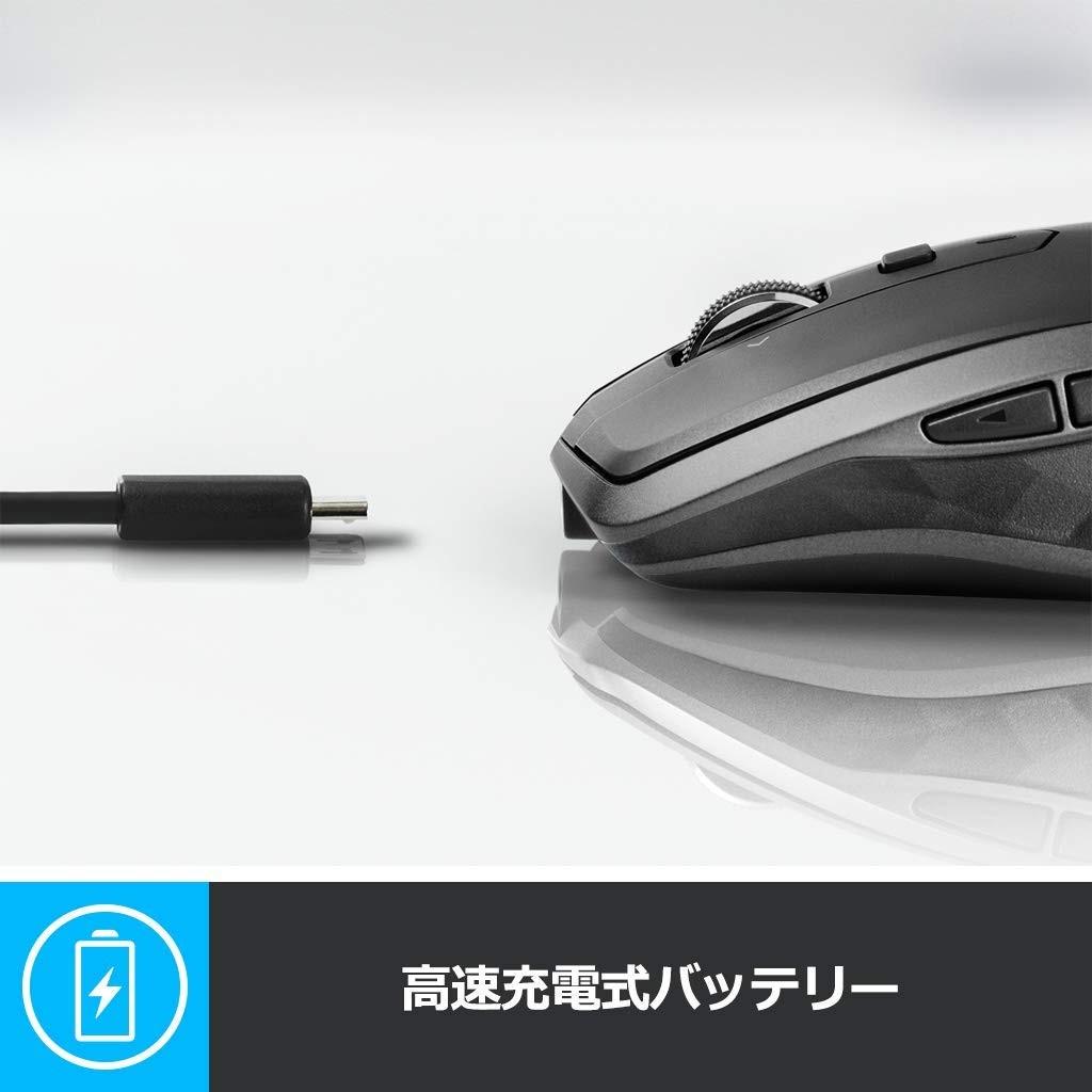 ロジクール MX ANYWHERE 2S ワイヤレスモバイルマウス MX1600sGR (グラファイト)の商品画像|3