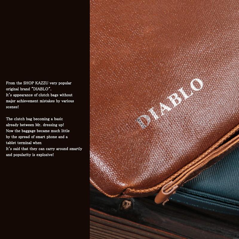 クラッチバッグ メンズ DIABLO ディアブロ バイカラー 2WAYバッグ