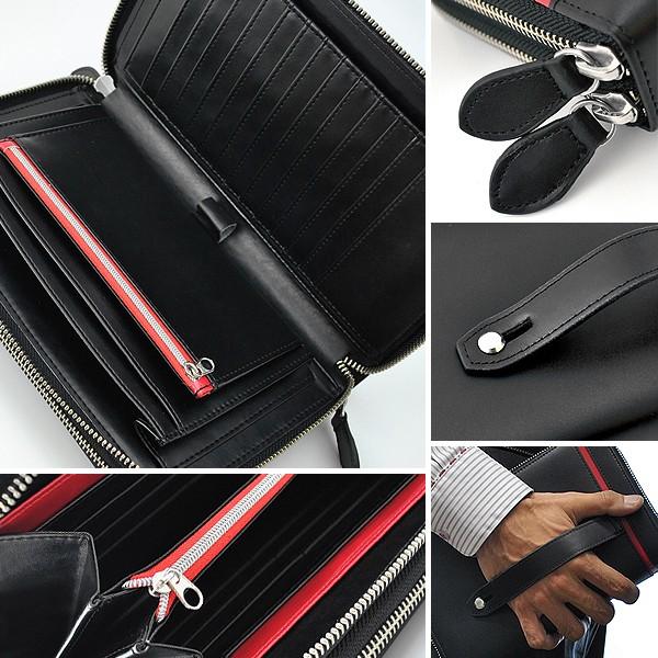 クラッチバッグ メンズ United HOMME ユナイテッドオム 馬革 クロスライン セカンドバッグ