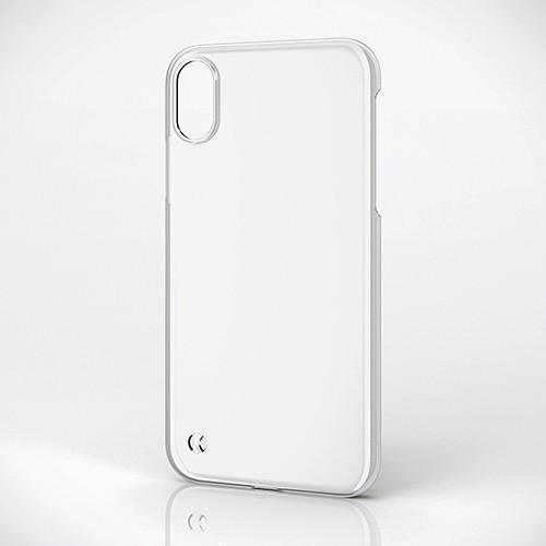 iPhone XR用 シェルカバー ストラップホール付 クリア PM-A18CPVSTCRの商品画像|2