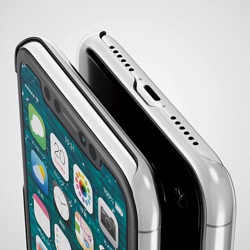 iPhone XR用 シェルカバー ストラップホール付 クリア PM-A18CPVSTCRの商品画像|3