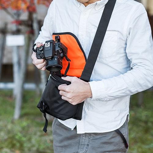 一眼レフカメラバッグ(カメラショルダーバッグ・アルファデザイン) 200-DGBG015BK (ブラック)の商品画像|3