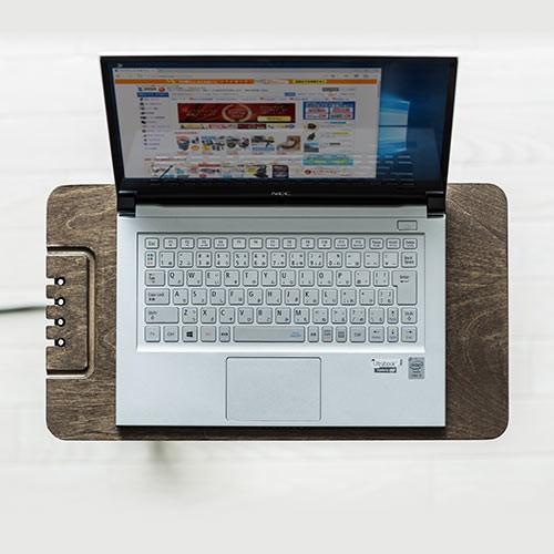 ソファサイドテーブル USB充電器収納タイプ W250×D450×H520mm 200-STN030 ブラック/ホワイト色の商品画像|4