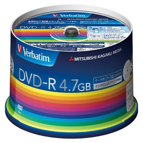 データ用DVD-R 16倍速 50枚 DHR47JP50V3の商品画像|2