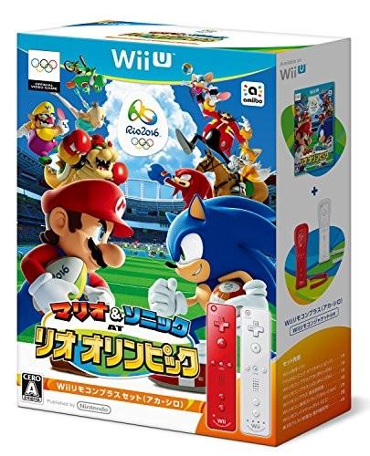 【Wii U】任天堂 マリオ&ソニック AT リオオリンピック Wiiリモコンプラスセット(アカ・シロ)の商品画像 ナビ