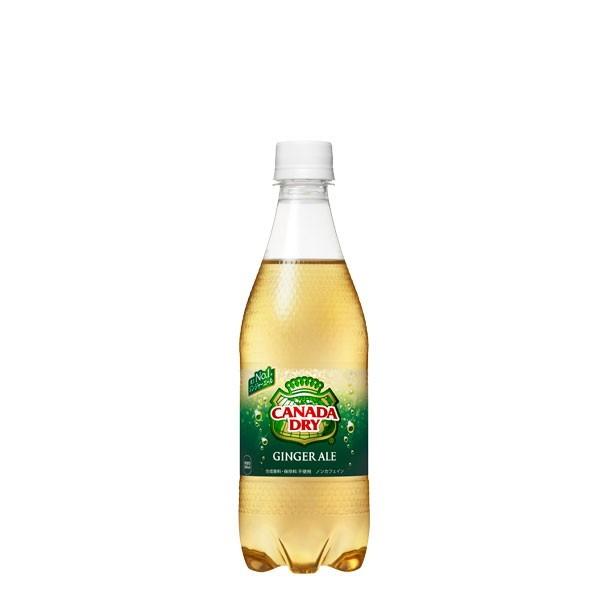 日本コカ・コーラ カナダドライ ジンジャーエール 500ml×24本 ペットボトルの商品画像|ナビ