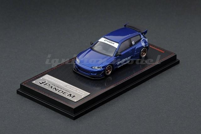 PANDEM CIVIC (EG6) Blue Metallic (1/64スケール IG1412)の商品画像|ナビ