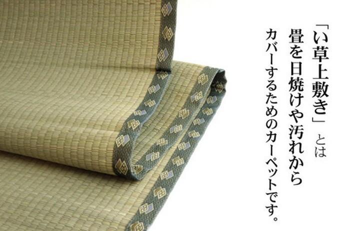 イケヒコ い草上敷き 松 団地間6畳の商品画像|2