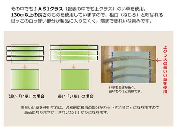 イケヒコ い草上敷き 西陣 江戸間2畳の商品画像|4